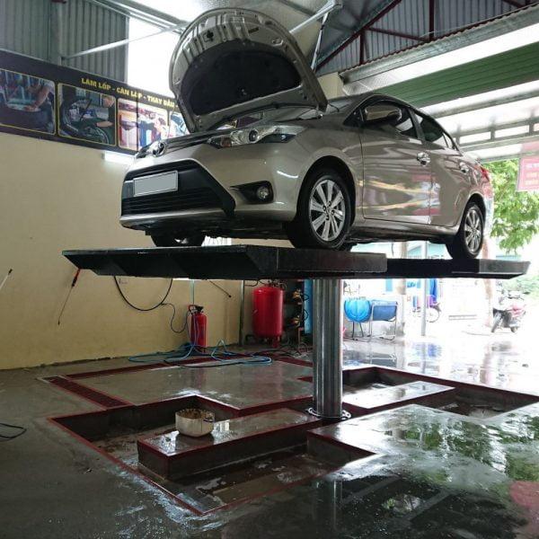Cầu nâng 1 trụ rửa xe Ấn Độ Senok