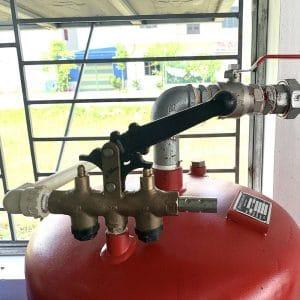 Tay khóa dầu cầu nâng 1 trụ SENOK PU04