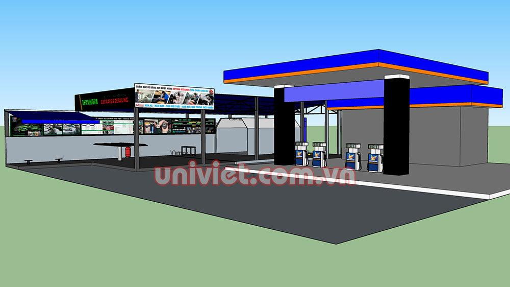 Mô hình 3D Trung tâm chăm sóc xe Thanh Trà