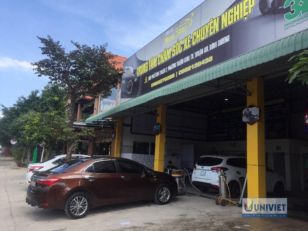 Trung tâm chăm sóc xe chuyên nghiệp Rửa xe cafe New Star