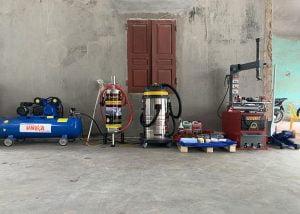 Các thiết bị được lắp đặt trong trạm rửa xe