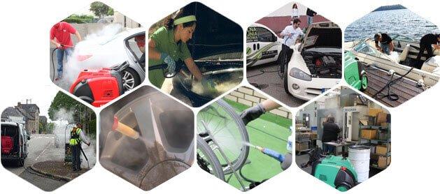 Ứng dụng của máy rửa xe hơi nước nóng Optima Steamer DMF