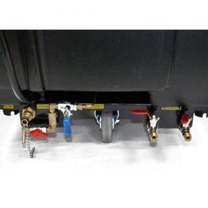 Phía dưới đằng sau máy rửa xe hơi nước nóng Optima Steamer EST - 18K