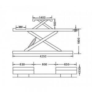 Cầu nâng cắt kéo 3.5 tấn UNIKA U-6108B