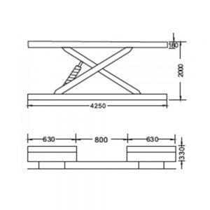 Cầu nâng cắt kéo 3.5 tấn UNIKA U-6109A