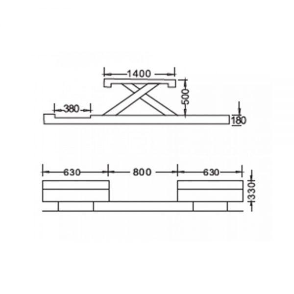 Cầu nâng cắt kéo 3.5 tấn UNIKA U-6109B