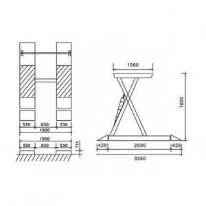 Cầu nâng cắt kéo 3 tấn UNIKA U-6102