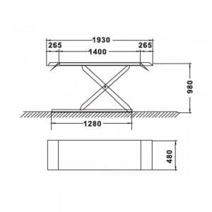 Cầu nâng cắt kéo 3 tấn UNIKA U-6103