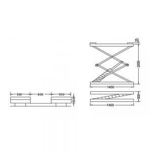 Cầu nâng cắt kéo 3 tấn UNIKA U-6105