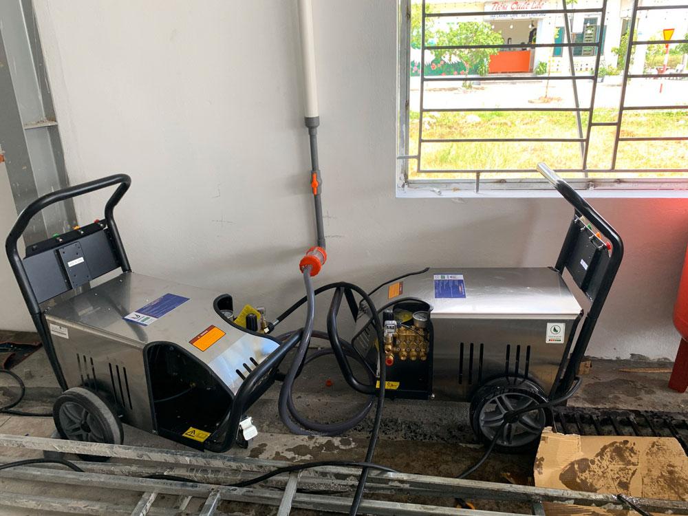 Trung tâm chăm sóc xe của a Quang lắp đặt 2 máy rửa xe cao áp TIGER TG-3200TTS