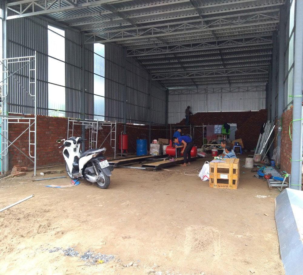 Không gian bên trong Trung tâm chăm sóc xe của anh Hào