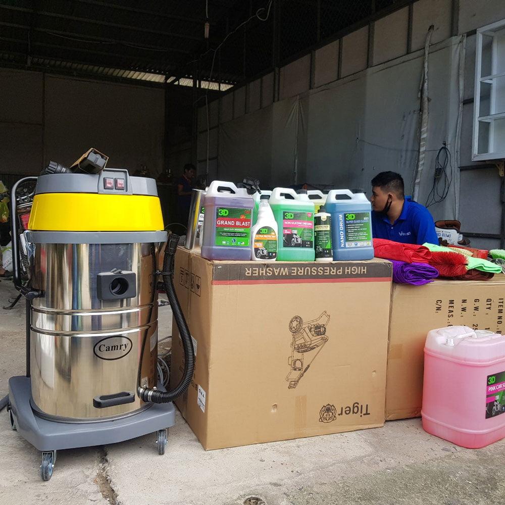 Một số thiết bị được cung cấp trong Trung tâm chăm sóc xe tại Đồng Tâm - Hóc Môn
