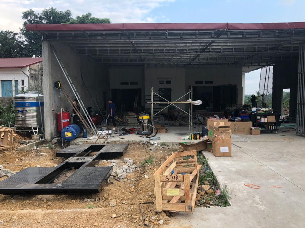 Không gian lắp đặt Trung tâm chăm sóc xe tại Ba Vì