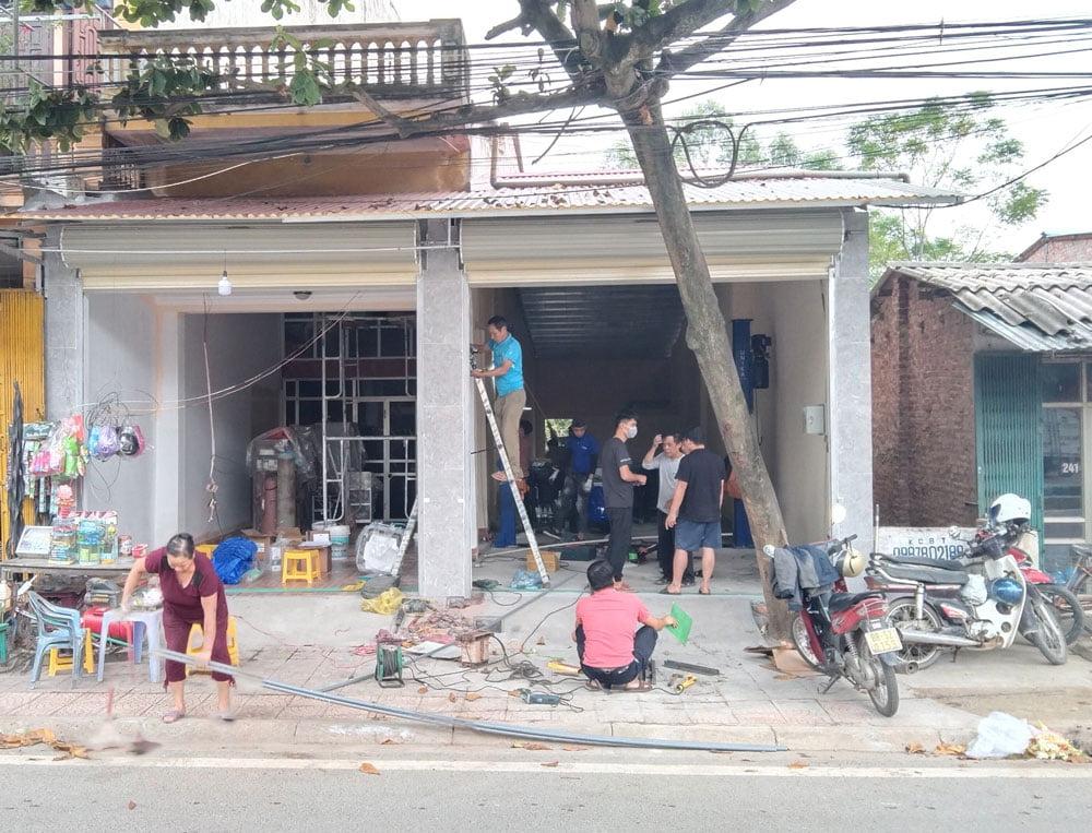 Mặt tiền của Trung tâm chăm sóc xe tại Vĩnh Phúc