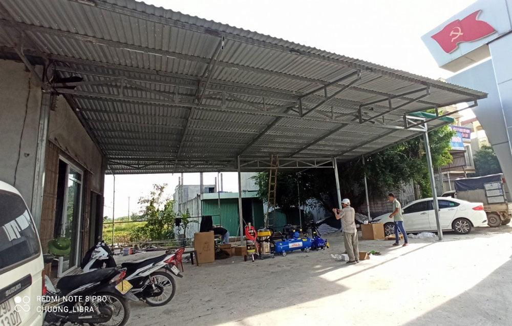 Không gian lắp đặt cho Trung tâm chăm sóc xe ở Yên Khánh - Ninh Bình