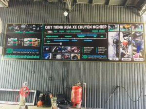 Hoàn thiện và đào tạo trong tiệm rửa xe Tô Ký, Hóc Môn, Tp. Hồ Chí Minh