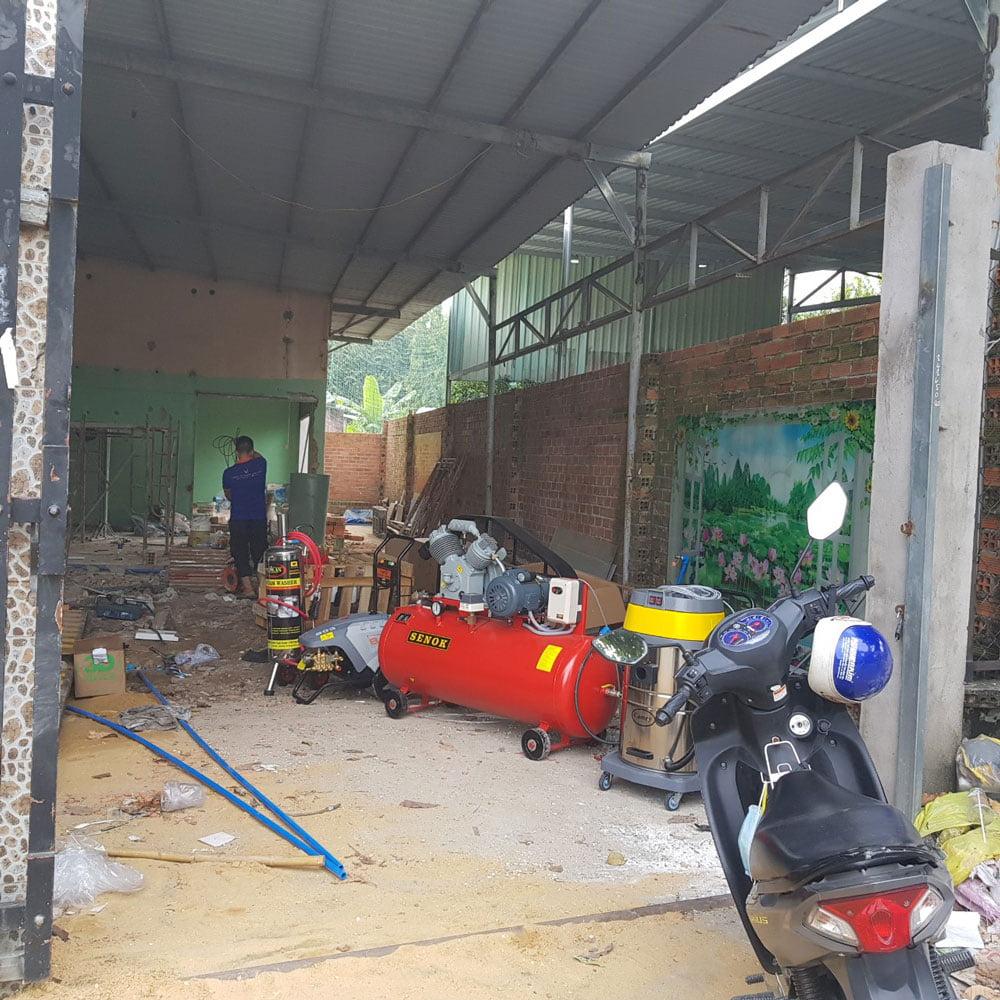 Không gian lắp đặt Trung tâm chăm sóc xe tại Huỳnh Thị Hai, Quận 12
